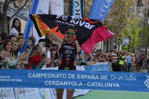 Abuin y García, campeones de España de Duatlón