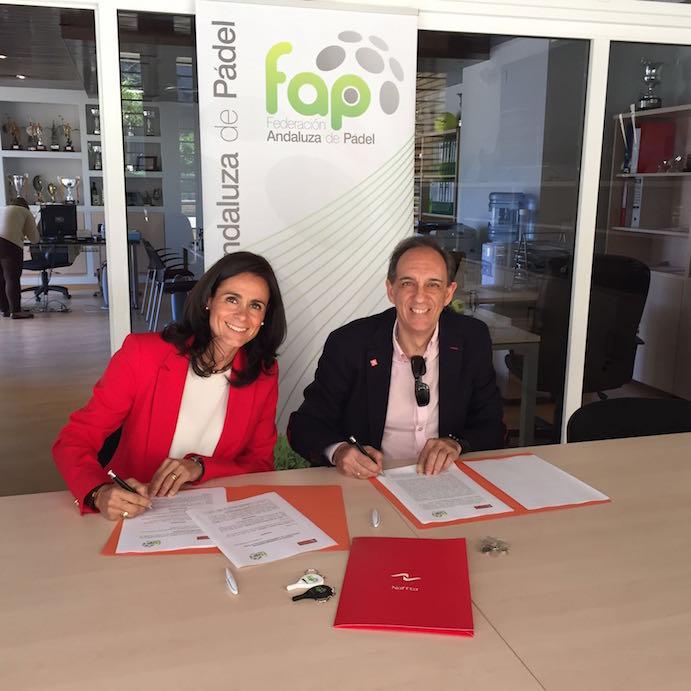 Naffta equipará a la Federación Andaluza de Pádel