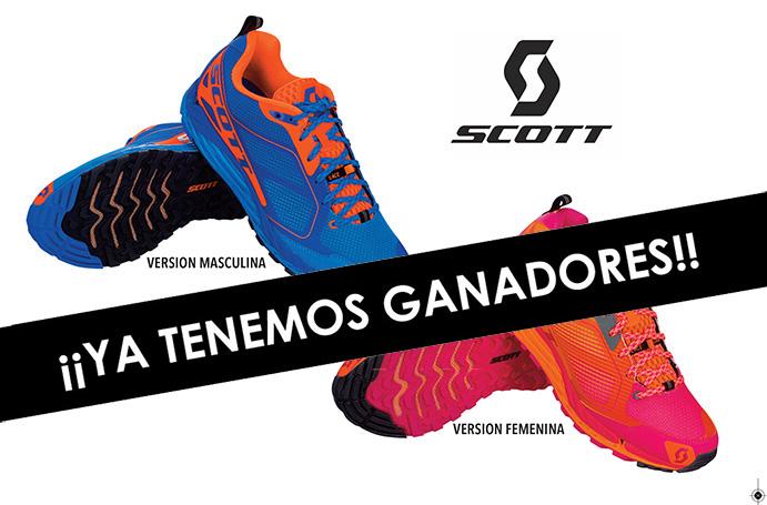 Ganadores del sorteo de dos pares de zapatillas Kinabalu 3.0 de Scott
