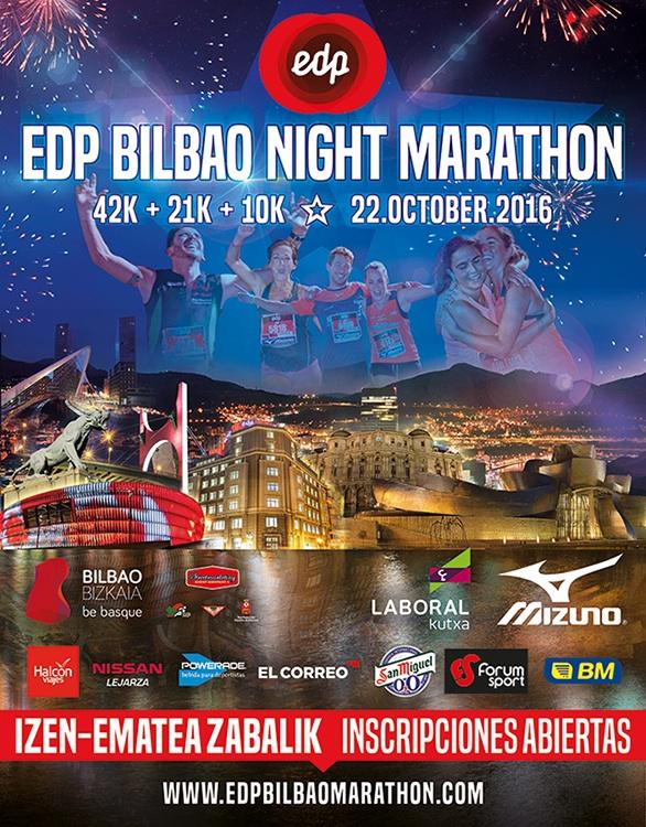 Inscripciones abiertas para la EDP Bilbao Night Marathon