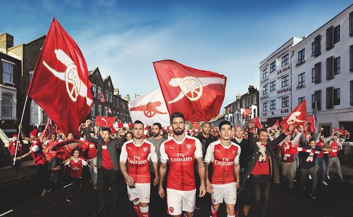 Presentado el home kit Puma del Arsenal para la temporada 2016/17