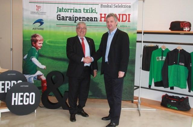 Astore equipará a la Federación Vasca de Fútbol hasta 2020