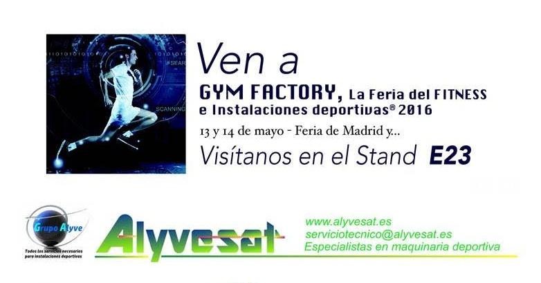 Alyvesat y La Milla Sport, juntos en la feria Gym Factory 2016