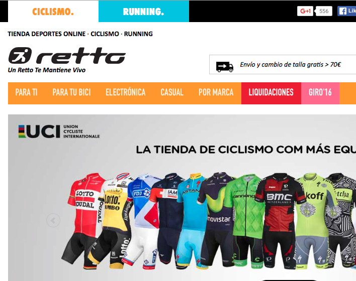 Retto e-shop facturó un 71% más en 2015