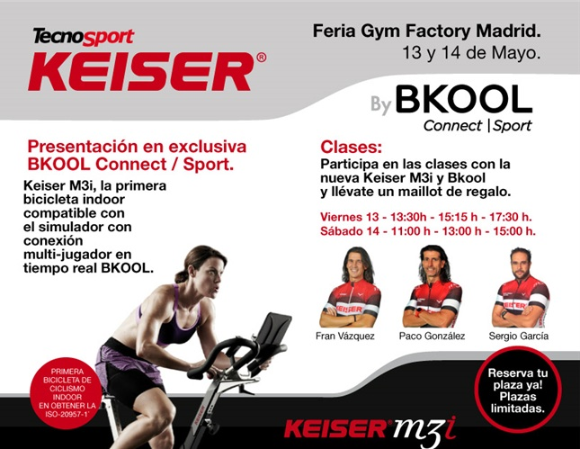 Tecnosport organiza varias Masterclass de ciclo indoor en la Feria Gym Factory