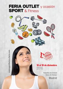 Feria outlet sport 2016 incluirá productos para fitness y todo tipo de otros productos para la práctica de deporte.