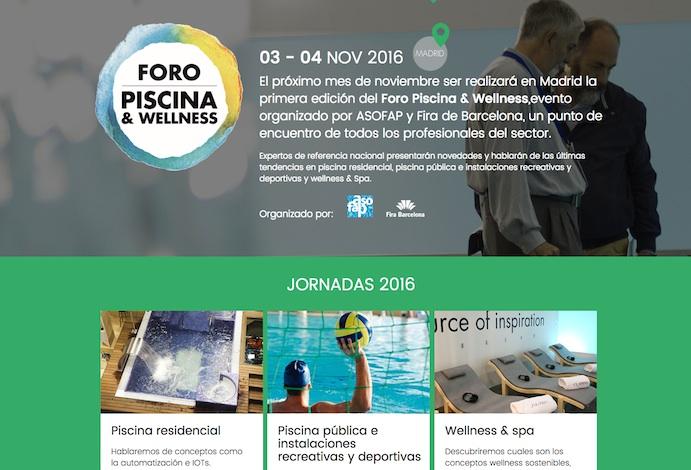El I Foro Piscina & Wellness se celebrará en Madrid en noviembre