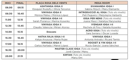 Programa Yoga Day 2016 Barcelona