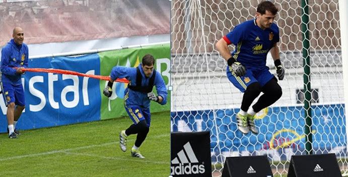 RFE ha equipado a la selección española de fútbol en Francia