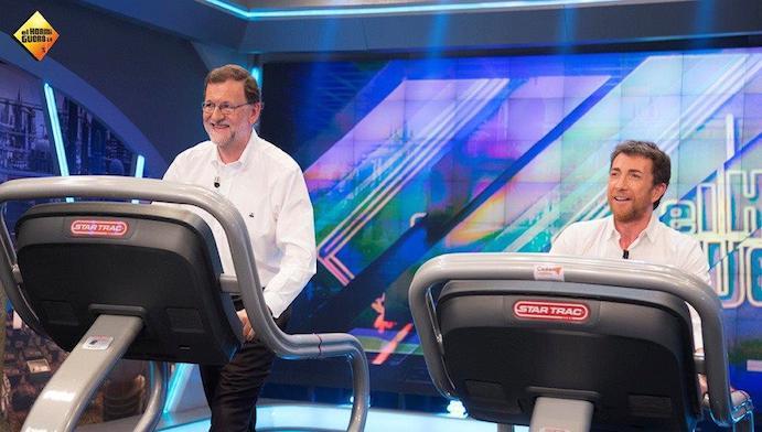 Mariano Rajoy corre con una cinta de Star Trac