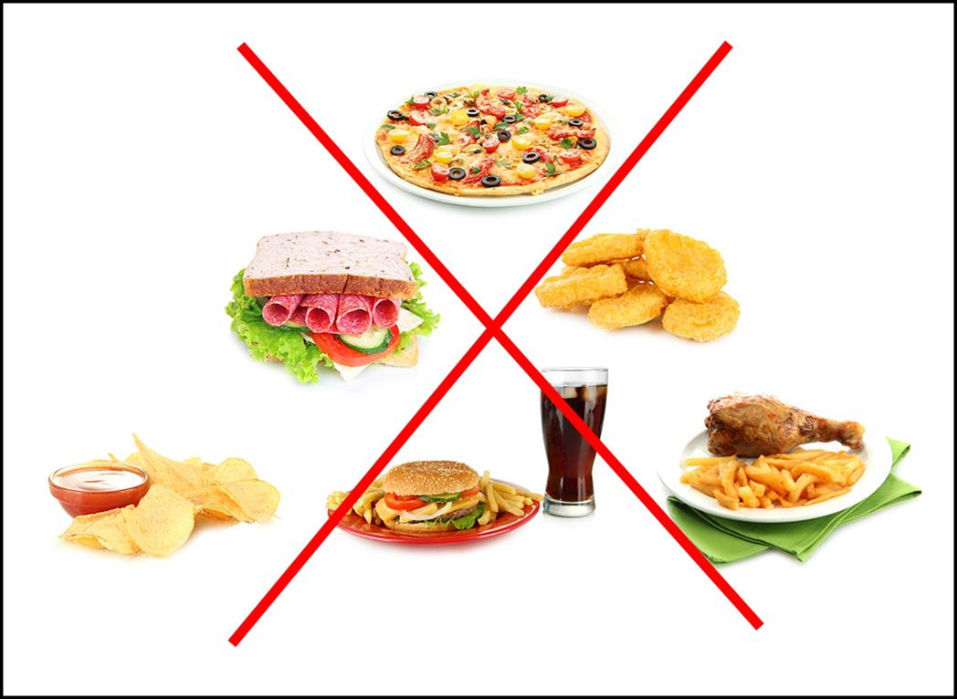 Los alimentos menos recomendables antes de entrenar