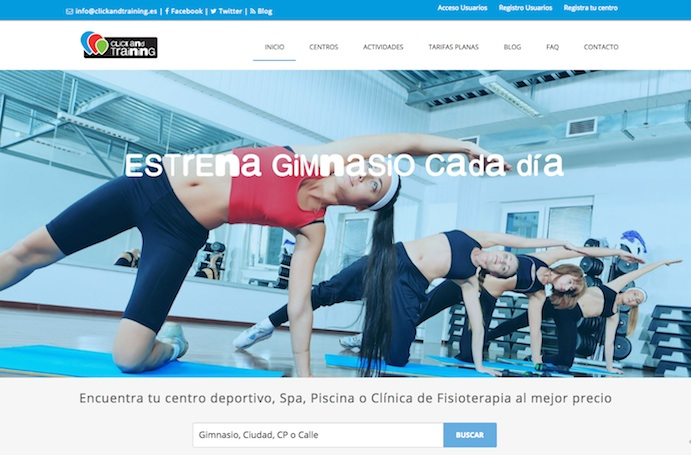 Nace Click and Training, una nueva plataforma de gimnasios