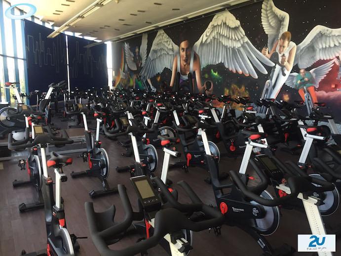 GHsports equipa la sala de ciclo indoor de Fitness2U Collado Villalla