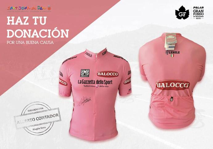 Gran Fondo y Santini sortean la 'maglia rosa' firmada por Contador
