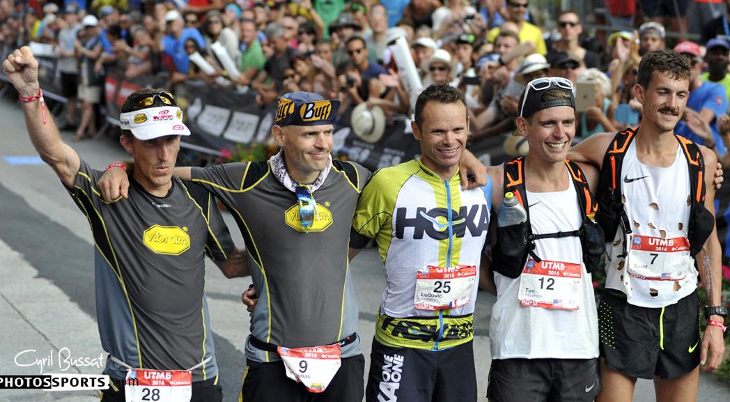 El Team Vibram sube al podio del UTMB