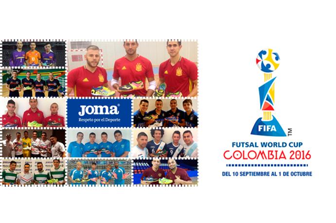 Joma, presente en el 90% de los equipos del Mundial de Fútbol Sala