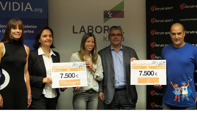 La Kosta Trail dona 15.000 euros a Asvidia y La Cuadri del Hospi