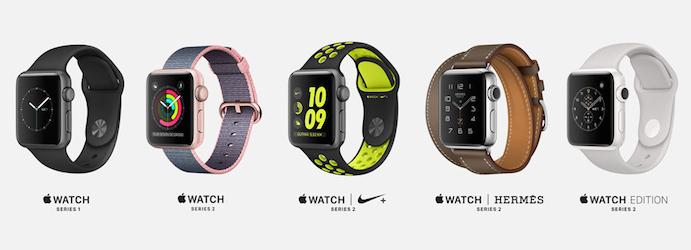 Modelos Apple Watch 2