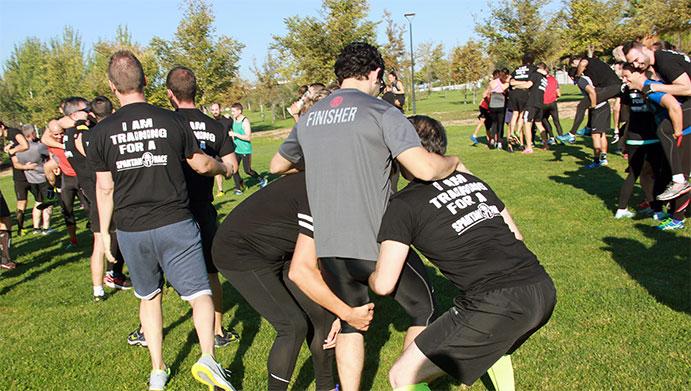 Los participantes de la Reebok Spartan Race, a estudio