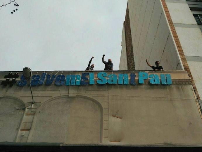 Barcelona, por la salvación del gimnasio cooperativo Sant Pau