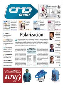 Portada de CMDsport-Correo del Mercado Deportivo 384. Anunciantes de la portada: HORIZON y ALTUS