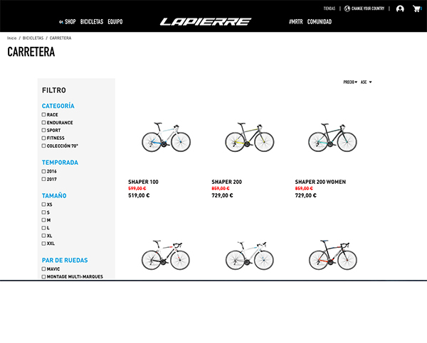 Lapierre Bikes inicia la venta directa a través de su web en España