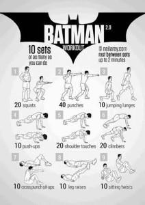 Rutina fitness Batman