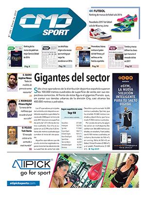 Portada de la edición número 385 de la revista impresa CMDsport. Marcas anunciantes de la portada: EGYM y ATIPICK.