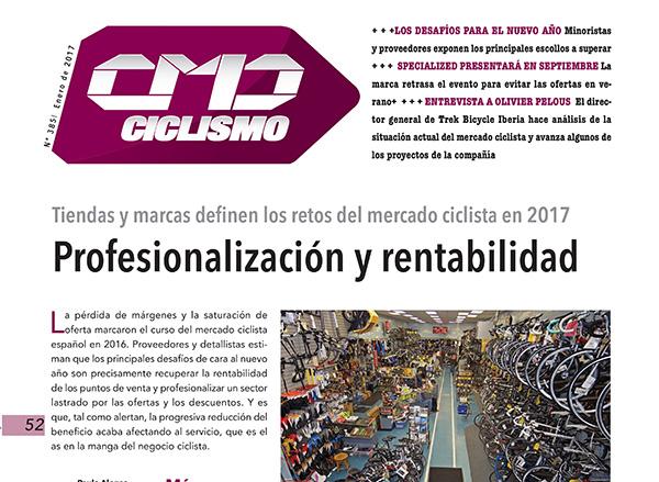 Profesionalización y rentabilidad, los retos del mercado ciclista en 2017