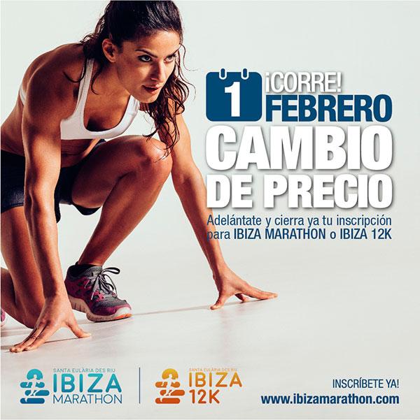 El Ibiza Marathon y el Ibiza 12k cambiarán de precio en febrero