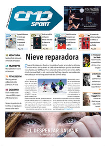 La portada de la edición número 386 de la revista impresa CMDsport correspondiente a la primera quincena de febrero de 2017 cuenta como anunciantes con la feria GYM FACTORY y la marca Icebraker.