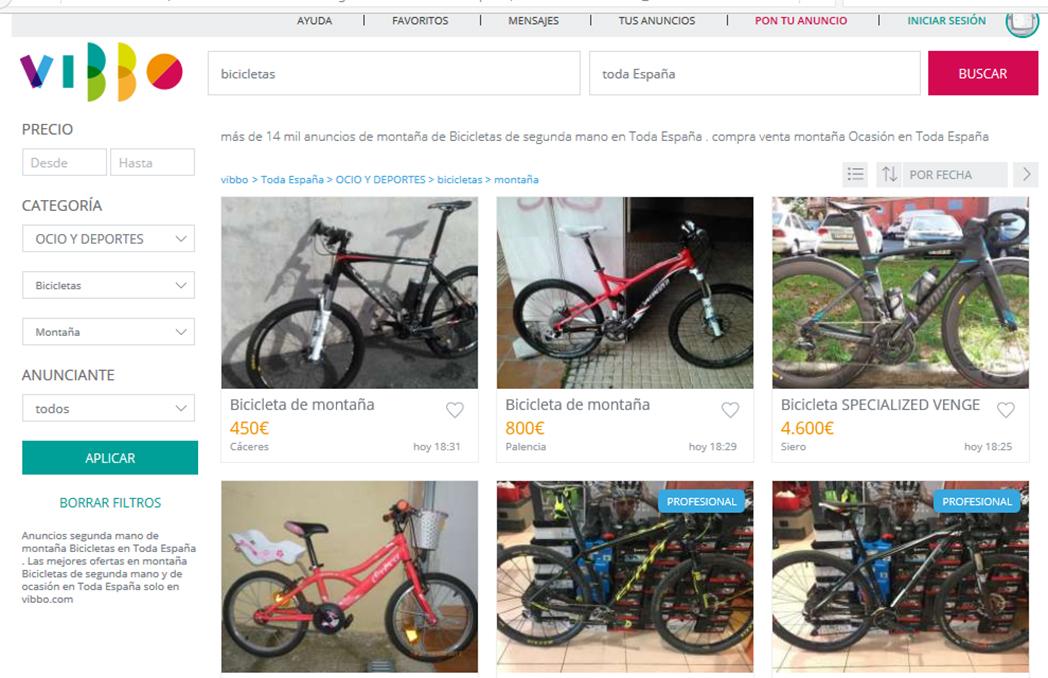 """Vibbo: """"Las bicicletas son el producto estrella de la plataforma"""""""