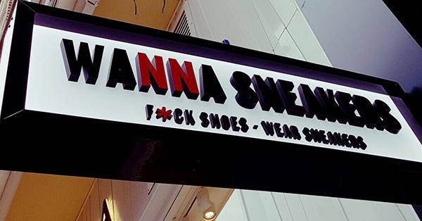 El surtido de las tiendas Wanna Senakers está compuesto en su gran mayoría (60%) por calzado de moda de inspiración deportiva, un 30% por textil y el 10% restante por complementos. Las marcas que configuran el surtido son siete: Adidas Originals, Asics, Converse, New Balance, Nike, Reebok y Puma.