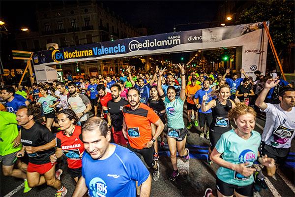 La 15K Nocturna de Valencia retrasa su horario de salida