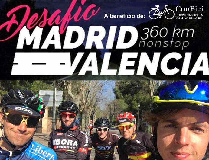 Desafío Madrid-Valencia: 360 kilómetros 'non-stop' por la seguridad vial