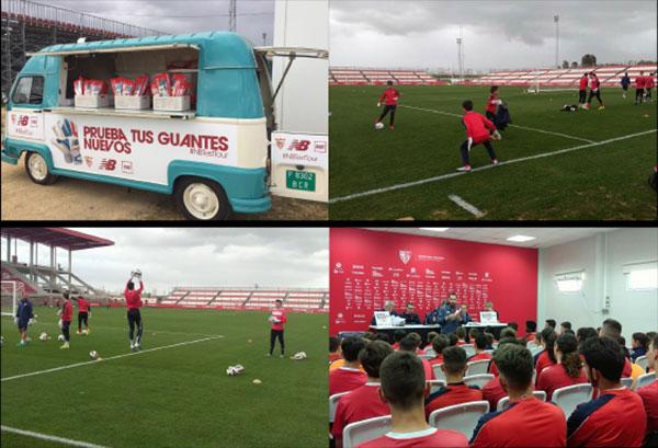 New Balance organiza con el Sevilla FC su primer clinic dirigido a porteros