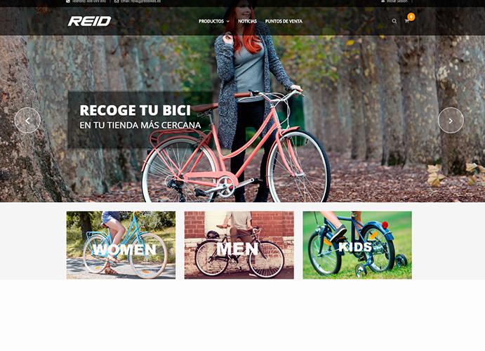 Reid Bikes estrena web en español con tienda online