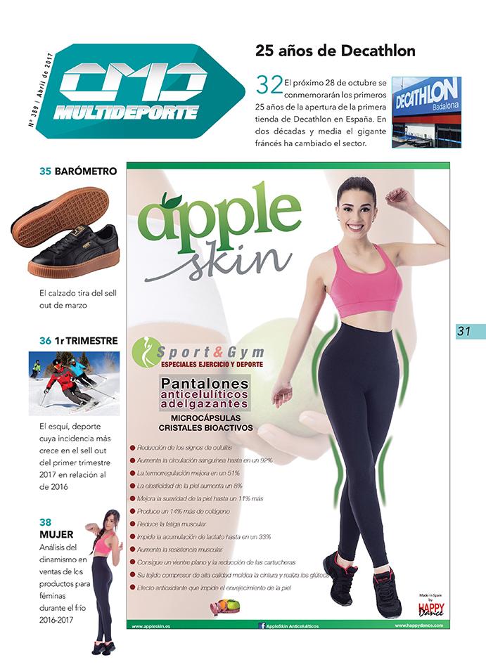 La marca Happy Dance es la anunciante-protagonista de la portadilla de la sección Multideporte de la revista impresa CMDsport, número 389.