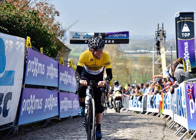 Pedro Delgado y Pedro Horrillo, en el Tour de Flandes con Le Coq Sportif