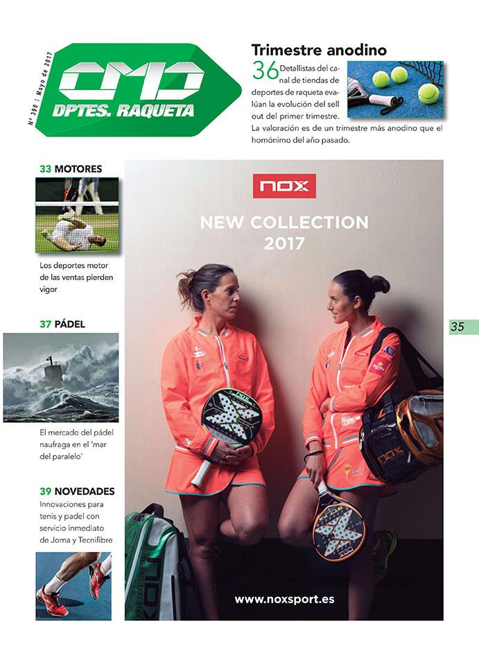 NOX es el espónsor principal de la sección Deportes de Raqueta de la revista impresa CMDsport correspondiente a Mayo de 2017.