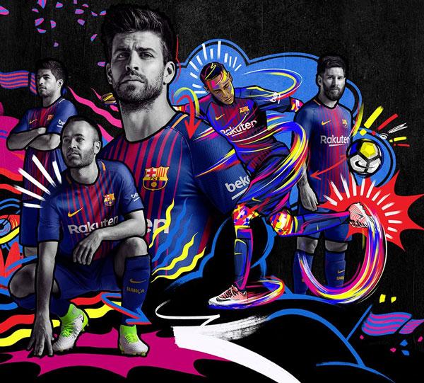 Creatividad publicada por Nike y el Fc Barcelona en las redes sociales.