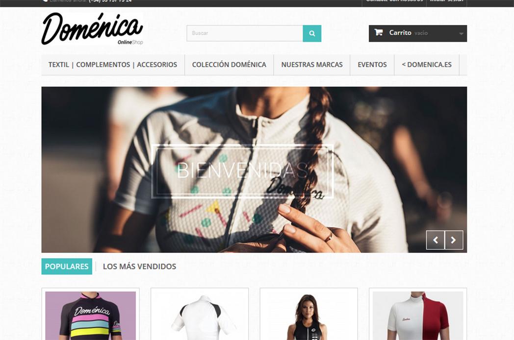 Doménica pone en marcha su tienda online para mujeres ciclistas