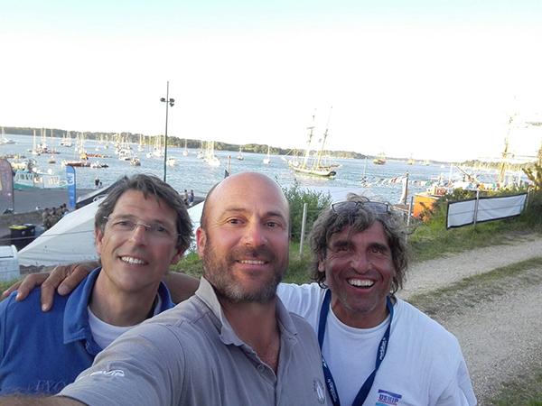 Tres embajadores del patín en el Golfo de Morbihan