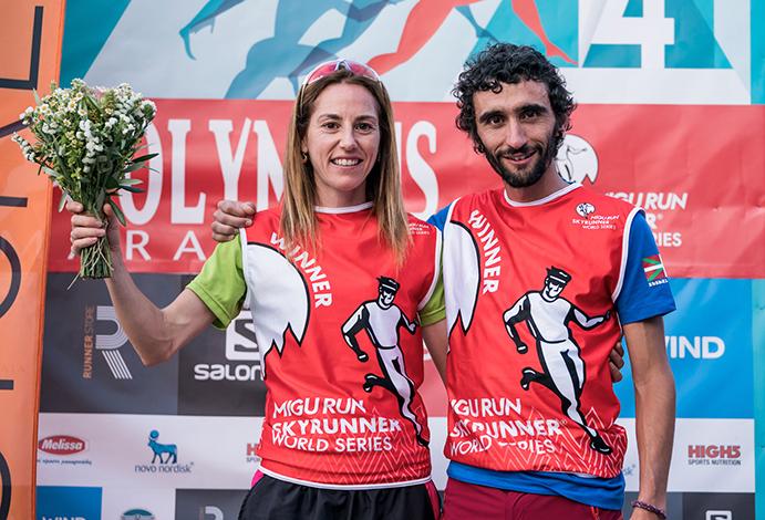 Aritz Egea y Ragna Debats pulverizan récords en el Monte Olimpo