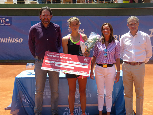 Final española en el VII Torneo Internacional Femenino de Tenis celebrado en Madrid