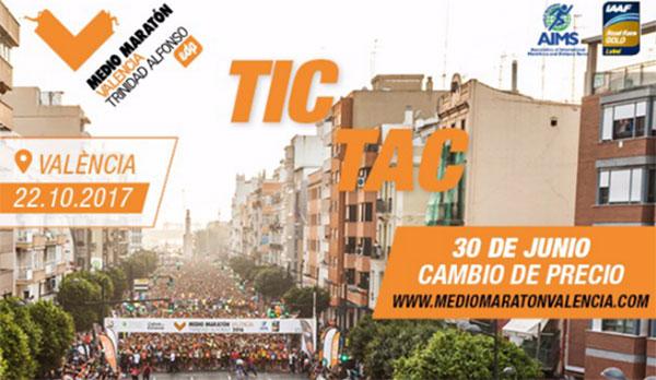 El Maratón y Medio Maratón de Valencia cambian de precio
