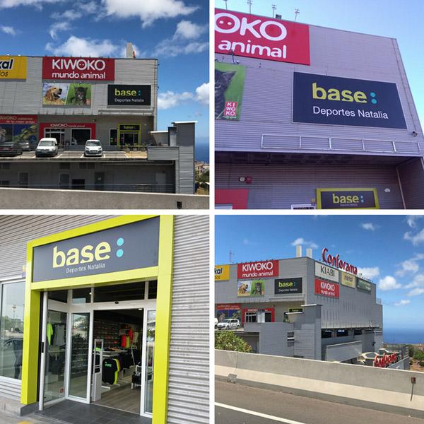 La nueva tienda Base Deportes Natalia abierta en el centro comercial La Libertad es el cuarto establecimiento que la enseña abre en el municipio tinerfeño de San Cristóbal de La Laguna y el noveno que posee en Tenerife.