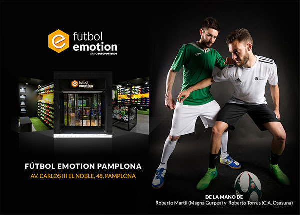 Futbol Emotion aterriza en Pamplona
