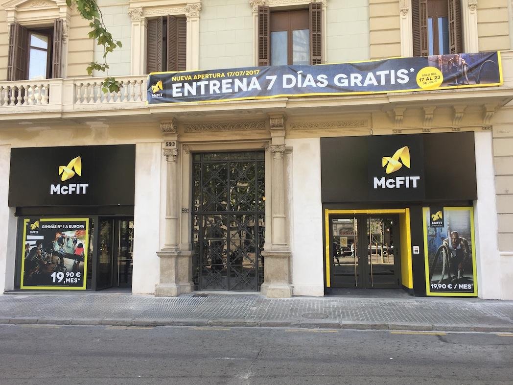 Mcfit abre su tercer gimnasio de barcelona en pleno centro for Gimnasio gran via