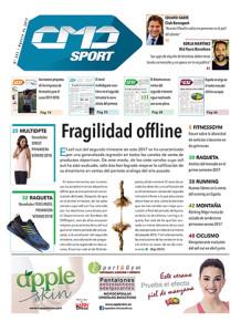 La marca HAPPY DANCE es la principal anunciante de la portada de la revista impresa CMDsport correspondiente a agosto de este 2017.